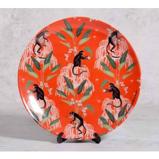 India Circus Monkey Games 10 inch Decorative and Snacks Platter