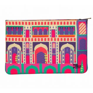 India Circus Mughal Corridor Makeup Pouch