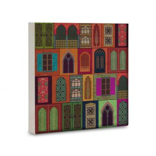 India Circus Mughal Doors Reiteration 16x16 and 24x24 Canvas Wall Art