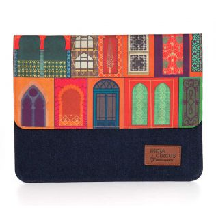India Circus Mughal Doors Reiteration Denim iPad Sleeve
