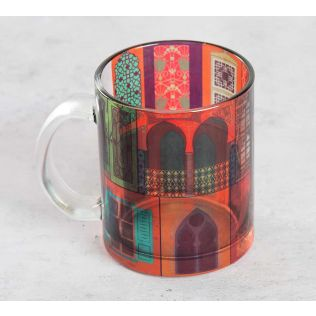 India Circus Mughal Doors Reiteration Glass Coffee Mug