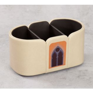 India Circus Mughal Doors Reiteration Leather Desk Organiser