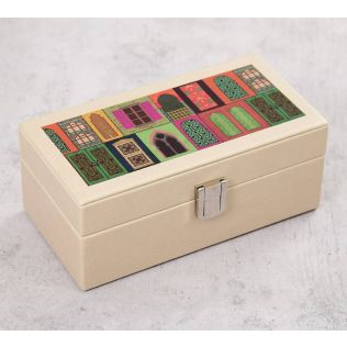 India Circus Mughal Doors Reiteration Leather Watch Box