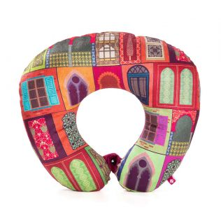 India Circus Mughal Doors Reiteration Neck Pillow