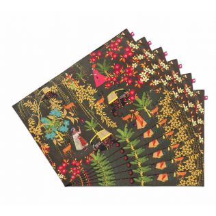India Circus Mughal Traffic Table Mats Set of 6