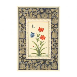 India Circus Mughal Tulip Handmade Poster