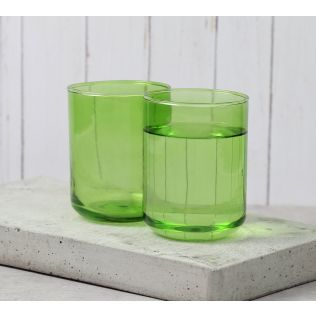 India Circus Olive Water Glass (Set of 2)