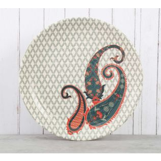 India Circus Paisley Prints Dinner Plate
