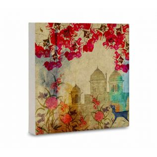 India Circus Palaces in Paradise Canvas Mounted Wall Art