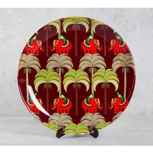 India Circus Palmeria Tusker Reiteration 10 inch Decorative and Snacks Platter
