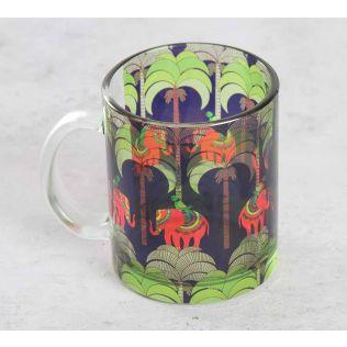 India Circus Palmeria Tusker Reiteration Glass Coffee Mug