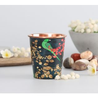 India Circus Parrots of the night Small Copper Tumbler