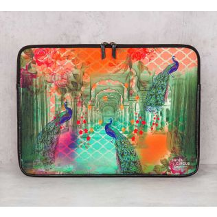 India Circus Peacock Dwar Laptop Sleeve