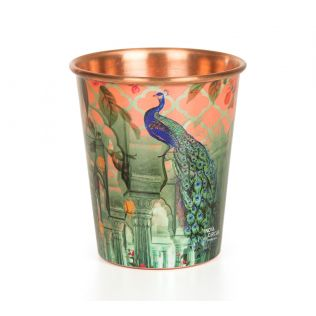 India Circus Peacock Dwar Small Copper Tumbler