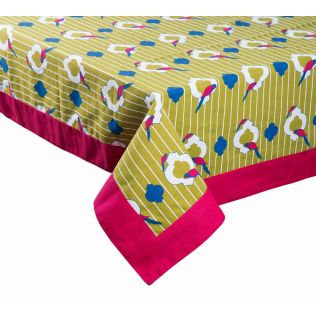 India Circus Peeking Parrots Table Cloth