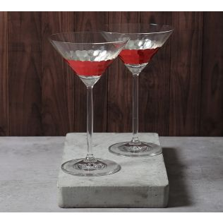 India Circus Pink Honeycomb Martini Glass (Set of 2)