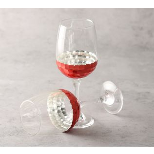 India Circus Pink Honeycomb Wine Glass (Set of 2)