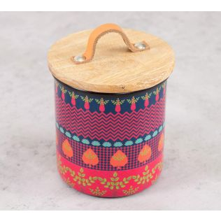 India Circus Placid Patterns Cookie Jar