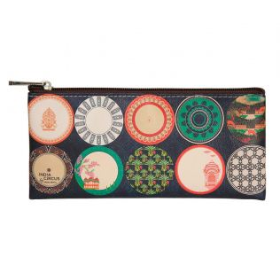 India Circus Platter Portrayal Small Utility Pouch