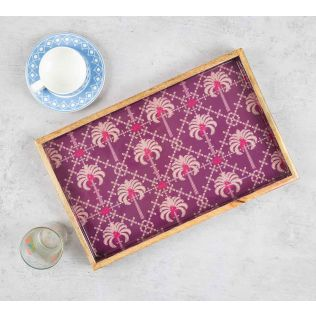 India Circus Poly Palmeira Serving Tray