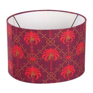 India Circus Poly Palmeria Cylindrical Lamp Shade