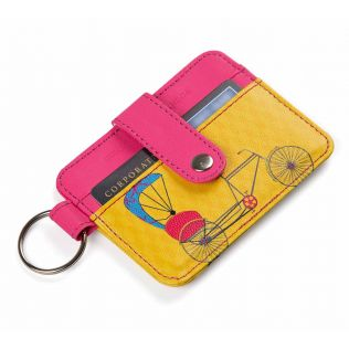India Circus Pop Jinricksha Keychain Card Holder
