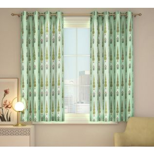 India Circus Poppy Conifer Window Curtain