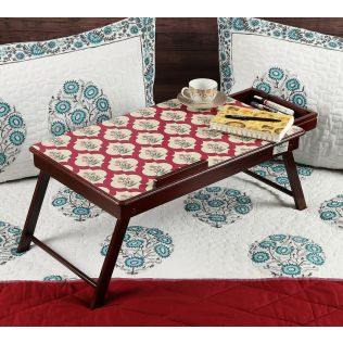 India Circus Poppy Flower Scarlet Laptop Table