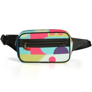 India Circus Popsicle Chevron Raffu Belt Bag