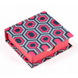 India Circus Prismatic Hexagons Memo Pad Box