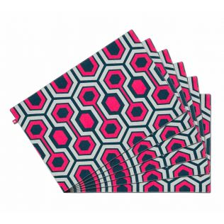 India Circus Prismatic Hexagons Table Mat Set of 6
