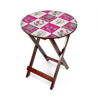 India Circus Quartet Checkers Round Side Table