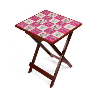 India Circus Quartet Checkers Side Table