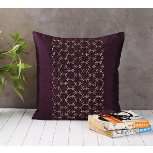 India Circus Rice Bead Purple Cushion Cover