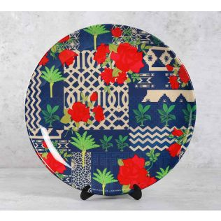India Circus Rose Garden Maze 10 inch Decorative and Snacks Platter