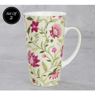 India Circus Rose Mallow Moscheutos Conical Mug