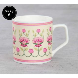 India Circus Rose Mallow Moscheutos Mug