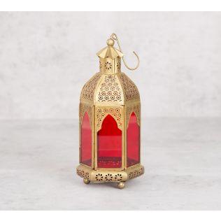 India Circus Rosette Iron Candle Lantern