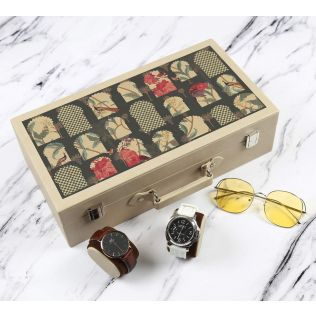 India Circus Signature Windows Leather Watch and Eyewear Box