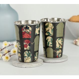 India Circus Signature Windows Steel Tumbler (Set of 2)
