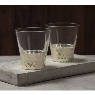 India Circus Silver Honeycomb Juice Glass (Set of 2)