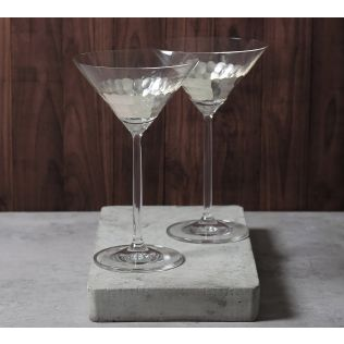 India Circus Silver Honeycomb Martini Glass (Set of 2)