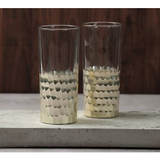 India Circus Silver Honeycomb Water Glass (Set of 2)