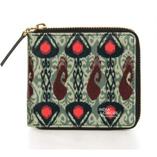 India Circus Sketched Paisley Zipper Wallet