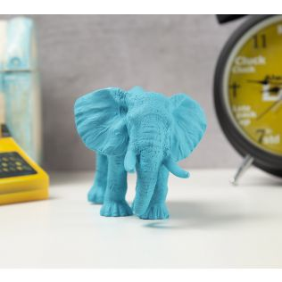 India Circus Sky Blue Baby Elephant Figurine