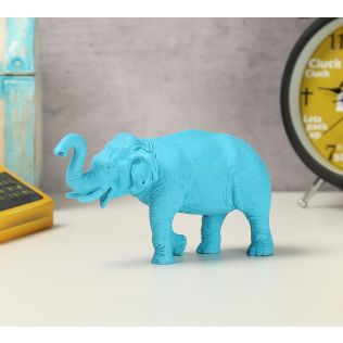 India Circus Sky Blue Baby Tusker Figurine