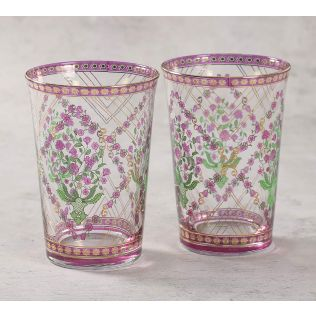 India Circus Spring Bloom Glass Tumbler Set of 2