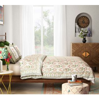 India Circus Spring Bloom Quilted Bed Cover Set