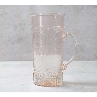 India Circus Tangerine Glass Jug