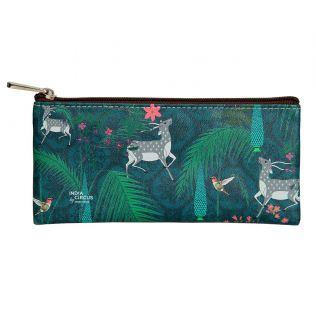 India Circus Teal Forest Fetish Small Utility Pouch